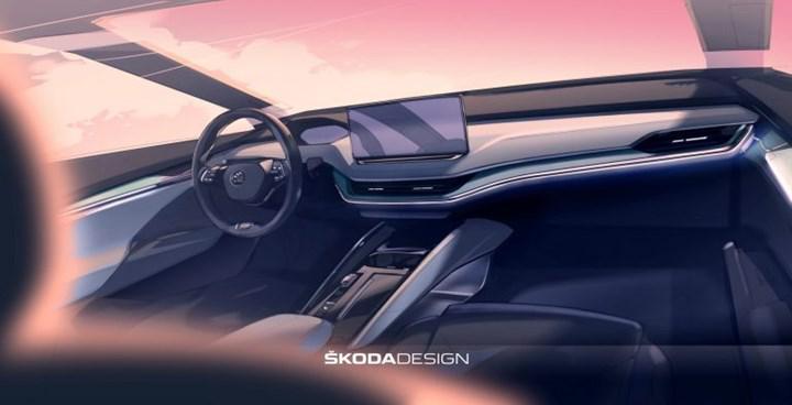 2021 Skoda Enyaq iV'nin kabininden ilk görüntü geldi
