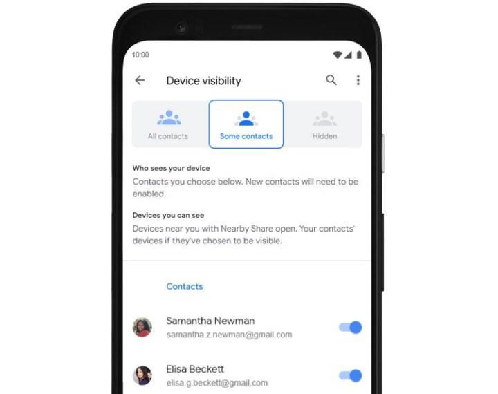 Google'ın AirDrop benzeri Nearby Share özelliği kullanıma sunuldu
