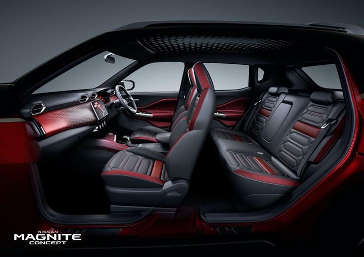 Nissan, yeni kompakt SUV konsepti Magnite'in iç mekanını gösterdi