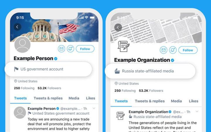 Twitter'a devlet yetkilileri ve hükümet destekli hesaplar için yeni etiketler geliyor