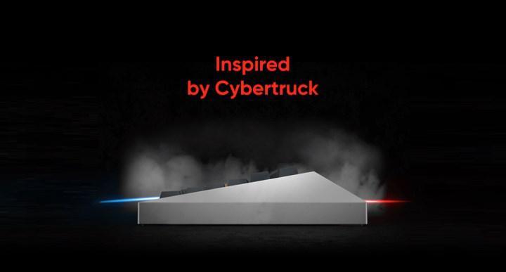 Tesla Cybertruck'tan ilham alan klavye: Cyberboard