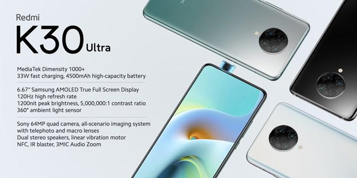 Xiaomi'nin yeni fiyat performans devi Redmi K30 Ultra tanıtıldı!