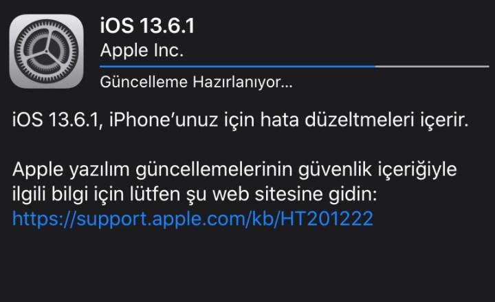 Yeşil ekran problemini gideren iOS 13.6.1 güncellemesi çıktı