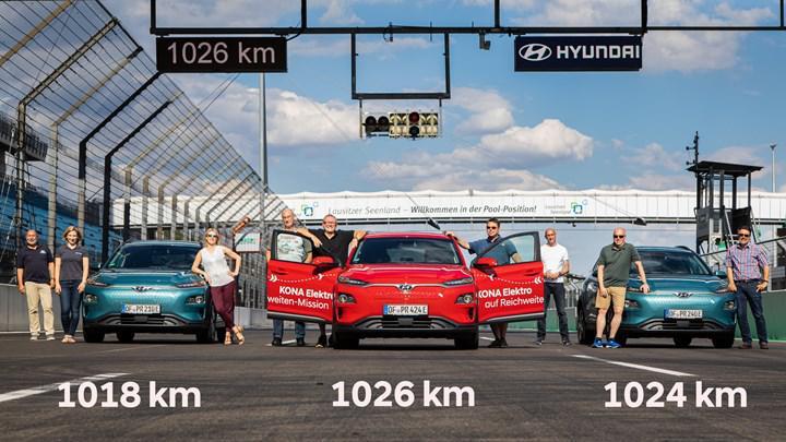 Elektrikli Hyundai Kona, tek şarjla 1000 kilometre menzil barajını geçti