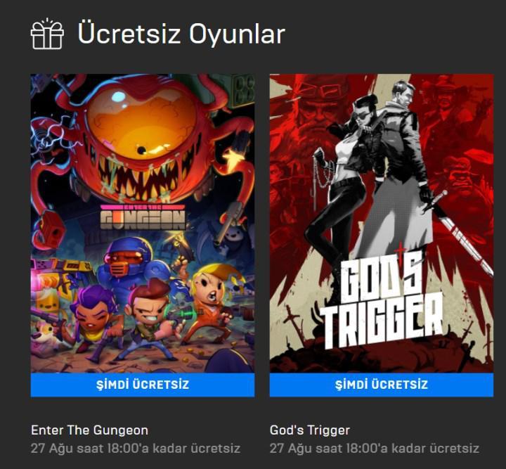 Epic Games mağazasında bu hafta 3 oyun ücretsiz