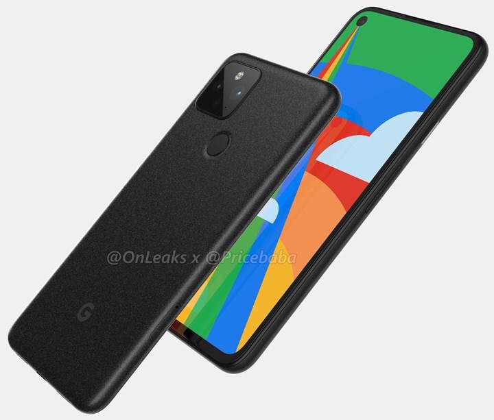 Google Pixel 5 render görselleriyle karşımıza