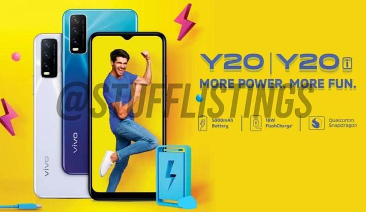 Vivo Y20 ve Y20i'nin görüntüleri ve özellikleri sızdırıldı!