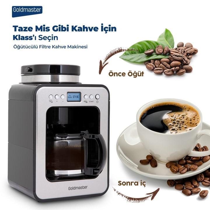 Goldmaster Klass Filtre Kahve Makinesi ile  First Klass Bir Kahve Deneyimi Yaşayın!
