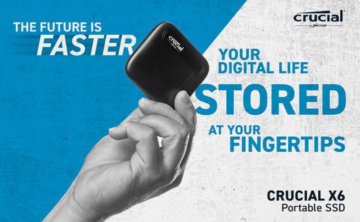 Micron Crucial X6 taşınabilir SSD satışa çıkıyor