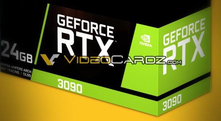 RTX 3090 ve RTX 3080'in teknik özellikleri sızdı