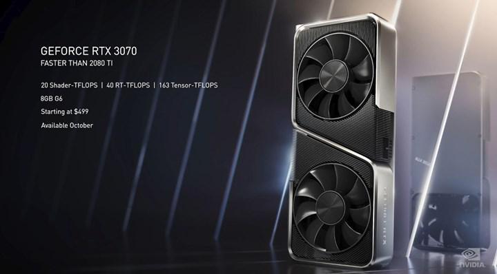 Nvidia RTX 3000 ekran kartlarını duyurdu: RTX 3090 10496 CUDA ile geldi, RTX 3080 700$, 2080 Ti'dan hızlı RTX 3070 500$