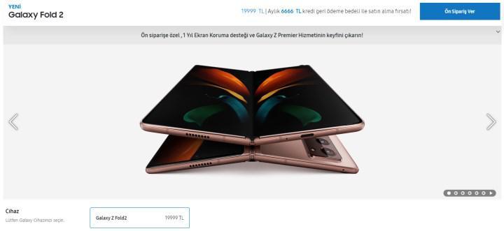 Katlanabilir ekranlı Galaxy Z Fold2'nin Türkiye fiyatı açıklandı