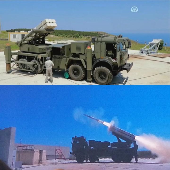 Milli imkânlarla geliştirilen karadan karaya lazer güdümlü ilk füze TRLG-230 test edildi
