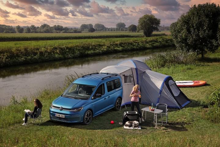 Volkswagen Caddy küçük bir kamp aracına dönüştü: Caddy California