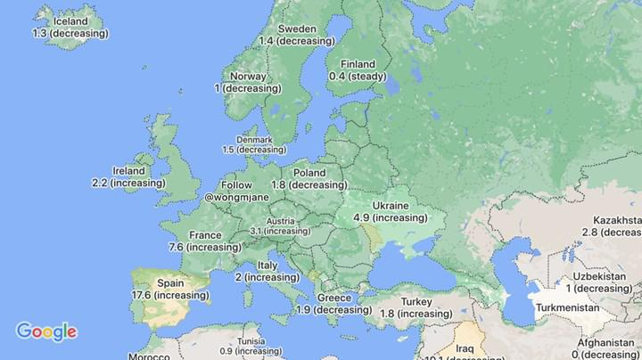 COVID-19 verilerini yakında Google Haritalar'da görüntüleyebileceksiniz