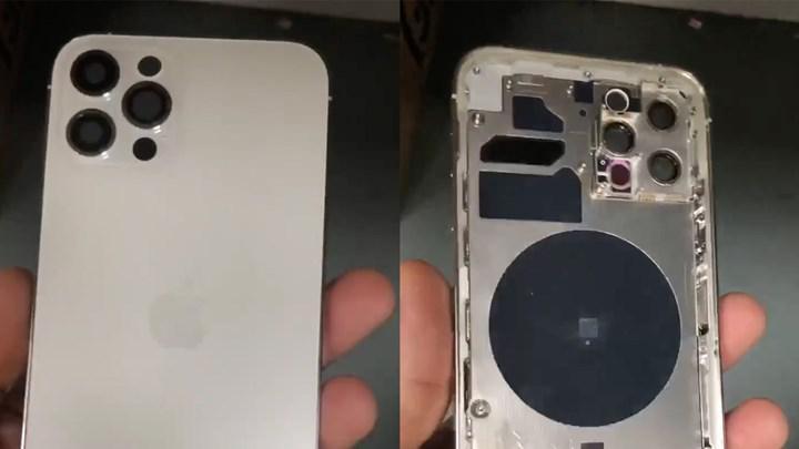 Lidar tarayıcılı iPhone 12 Pro'nun metal çerçeveye sahip kasası görüntülendi [video]