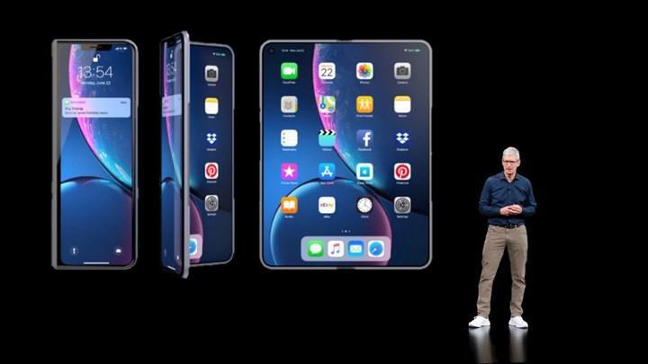 Samsung katlanabilir iPhone modeli için Apple'a ekran göndermeye başladı
