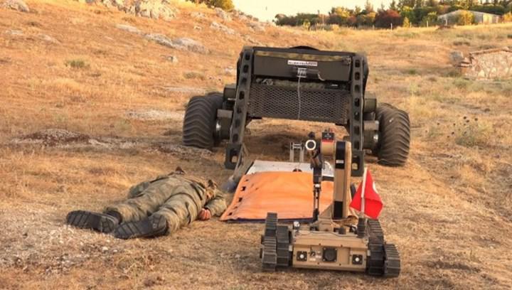 Uzaktan Komutalı İnsansız Kara Platformu Boğaç, yaralı tahliye aracına dönüştürüldü
