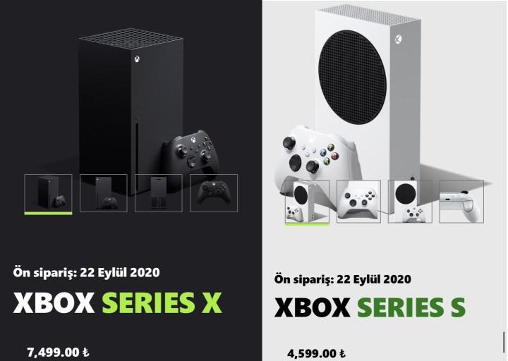 Xbox Series X ve Xbox Series S Türkiye fiyatları belli oldu