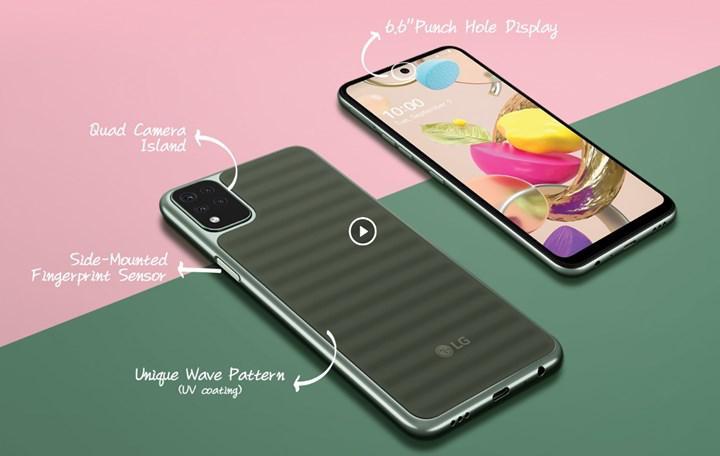 LG garip arka panel tasarımına sahip yeni bir telefon çıkardı