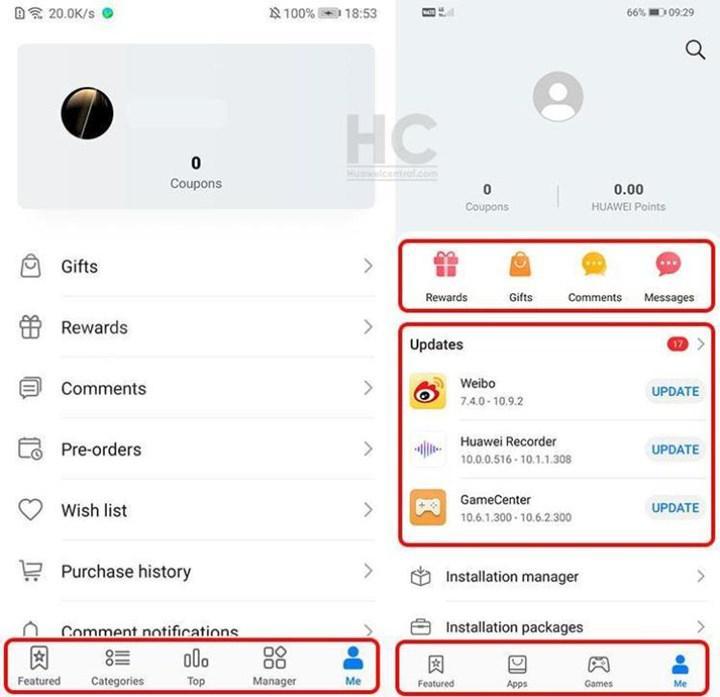 Huawei, uygulama mağazası AppGallery'nin kullanıcı arayüzünü güncelledi