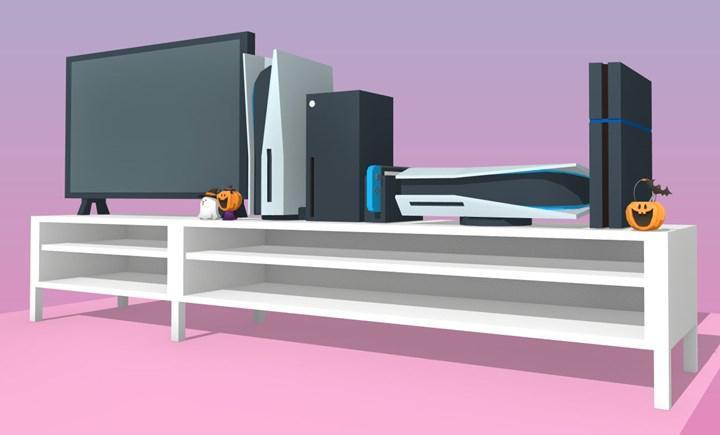 PS5'in masadaki 'devasa boyutlarını' gösteren temsili görseller