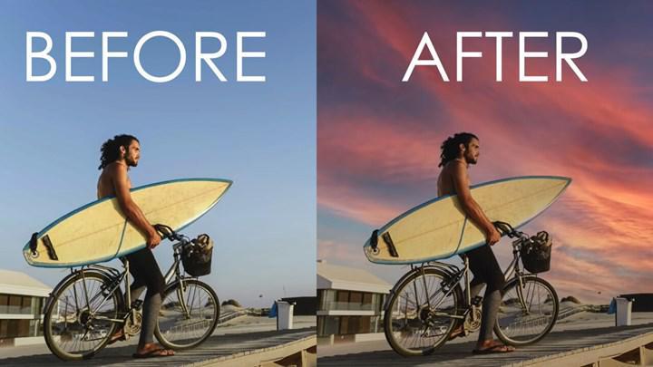 Photoshop'un yeni özelliğiyle gökyüzünü değiştirmek çocuk oyuncağı haline geliyor