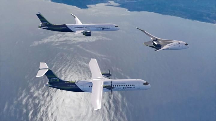 Airbus'tan hidrojenle çalışan sıfır emisyonlu yolcu uçağı atağı