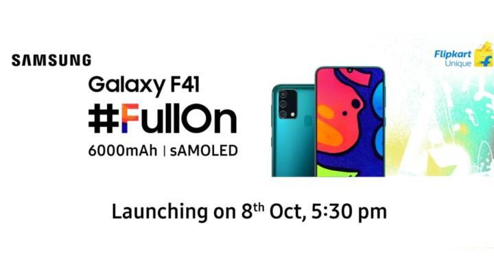 Samsung Galaxy F41 detaylanıyor