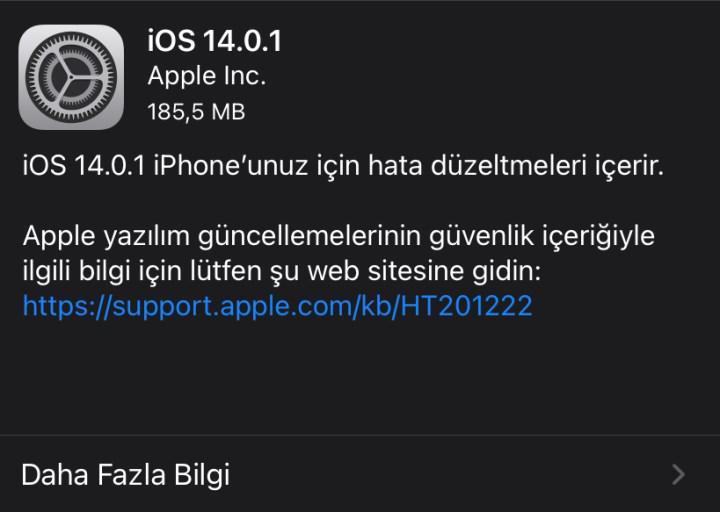 iOS 14.0.1 güncellemesi çıktı! Hangi sorunlar giderildi?