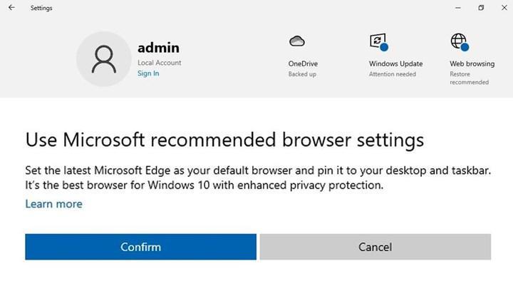 Microsoft, Yeni Edge'i ayarlarda önermeye başladı