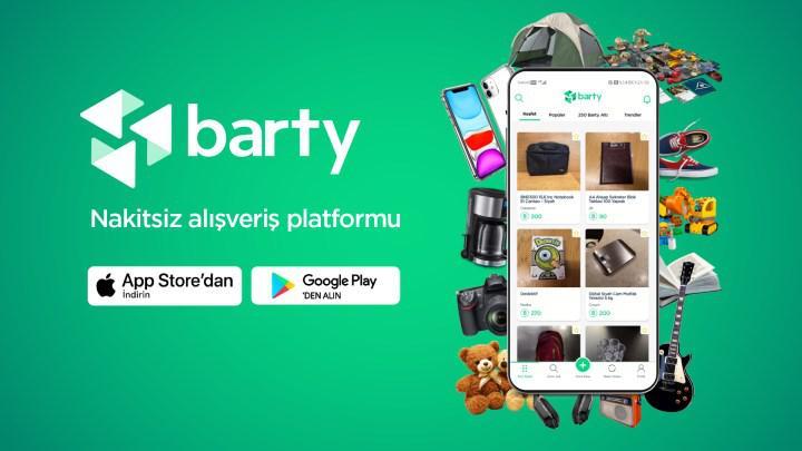 Barty: Nakitsiz yerli alışveriş platformu