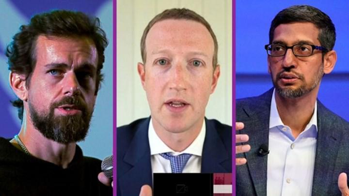 Google, Facebook ve Twitter CEO'larına mahkeme celbi gönderilecek