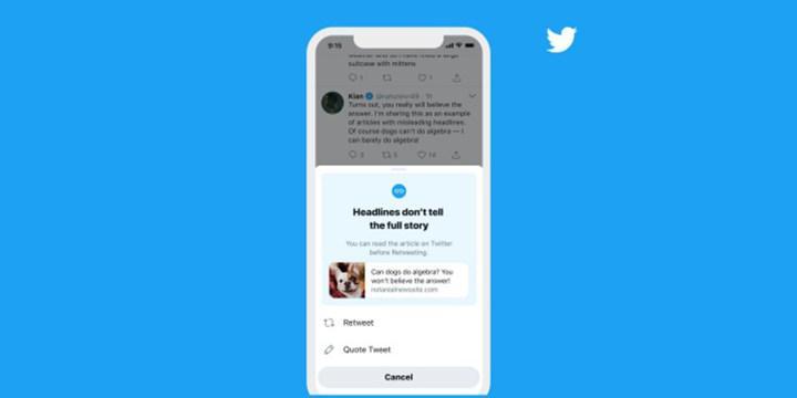 Twitter, iOS uygulamasına 'paylaşmadan önce oku' özelliğini getiriyor
