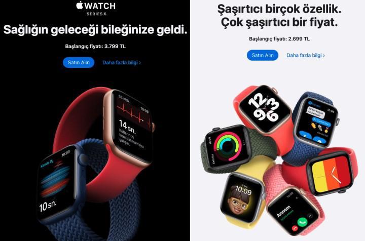Apple Watch Series 6 ve SE satışa başladı