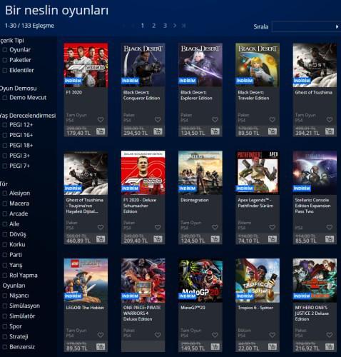 PlayStation Store'da yüzde 70 varan indirimler başladı