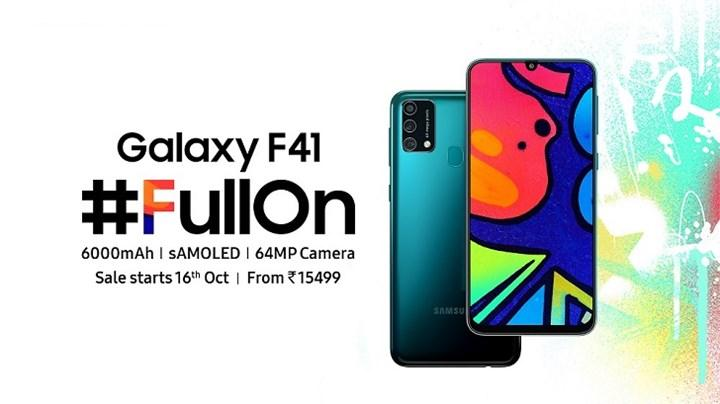 Galaxy F41 tanıtıldı: İşte özellikleri ve fiyatı