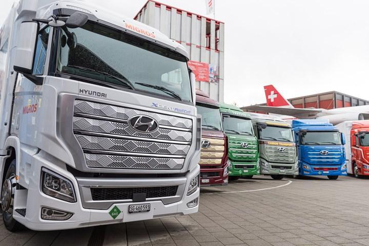 Hyundai'nin hidrojen yakıtlı kamyonu Xcient, Avrupa yollarına çıktı