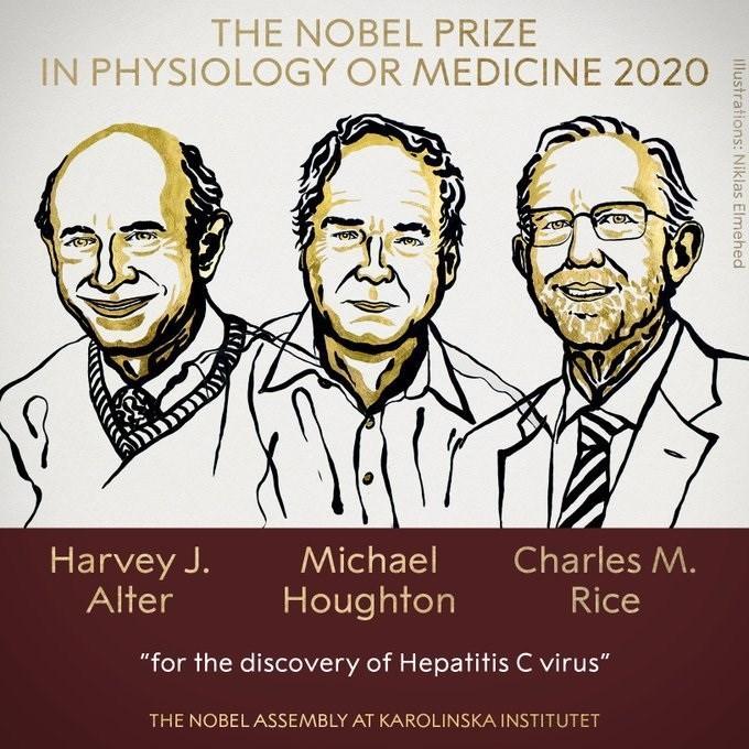 2020 yılı Nobel Tıp Ödülü'ne 3 bilim insanı layık görüldü
