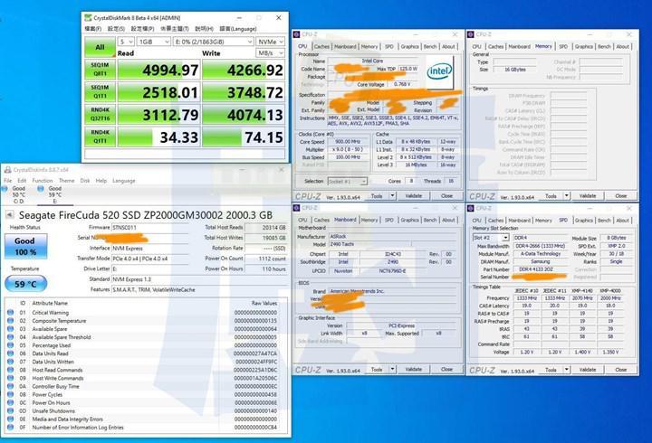 Rocket Lake-S işlemcisi PCIe 4.0 SSD ve ekran kartıyla test edildi