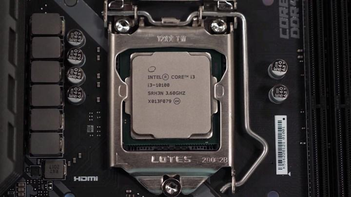 Intel 97 dolarlık 4/8 Core i3-10100F işlemcisini tanıttı