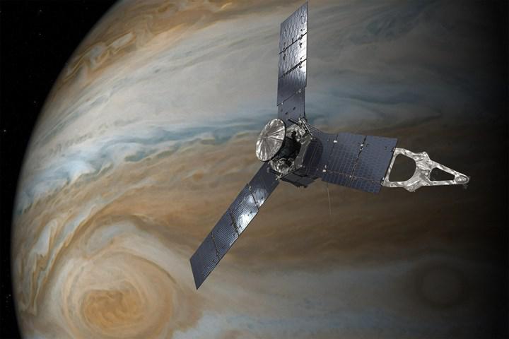 NASA, Juno uzay aracının elde ettiği görüntülerden oluşturulan bir video paylaştı