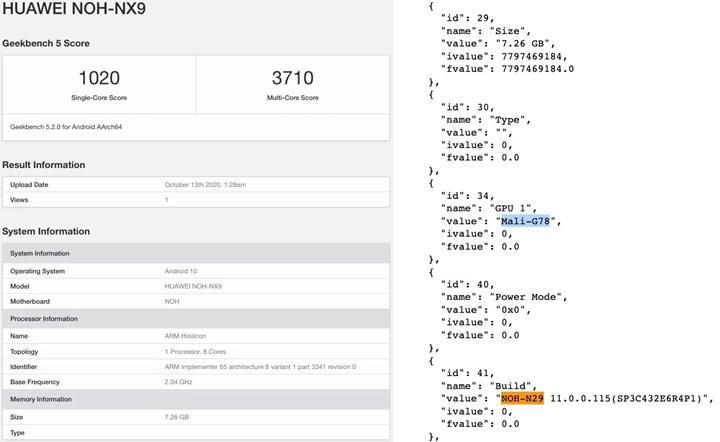 Lansmanı yaklaşan Huawei Mate 40 Pro, Geekbench testinde ortaya çıktı
