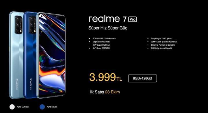 realme 7 Pro ülkemizde satışa çıkıyor: İşte özellikleri ve fiyatı