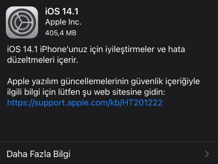 iOS 14.1 & iPadOS 14.1 çıktı! İşte yenilikler ve çözüme kavuşan sorunlar