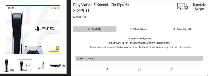 PS5 Türkiye'de ilk kez ön siparişe açıldı: Anında tükendi (Güncelleme)