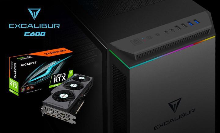 Excalibur E600 modelleri GeForce RTX 3070 ve RTX 3080 ile güçleniyor