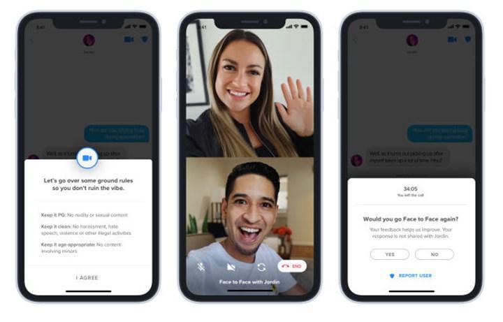 Tinder'da 'Yüz Yüze' video görüşmesi yapmak artık mümkün
