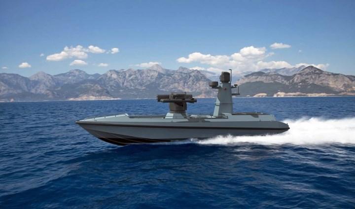 Türkiye'nin ilk Silahlı İnsansız Deniz Aracı 'ULAQ' tanıtıldı
