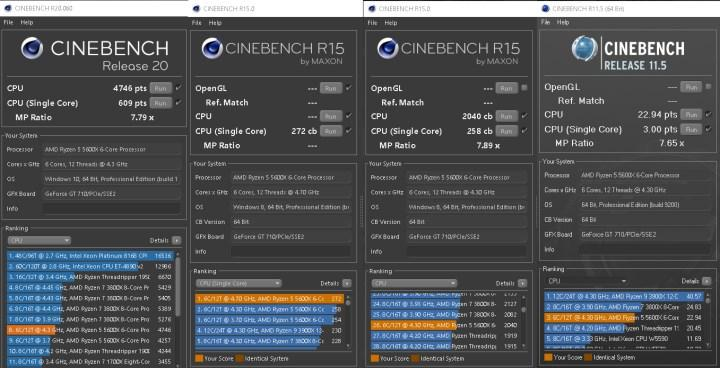 Ryzen 5 5600X'in Cinebench skoru sızdı: Tüm Ryzen 5000 ailesi 600 puanın üzerinde